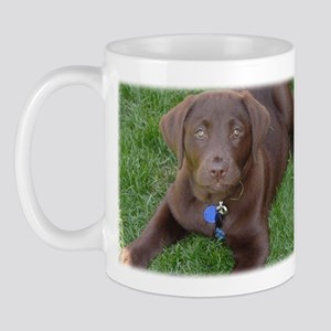 Chocolate Lab Grass Mug